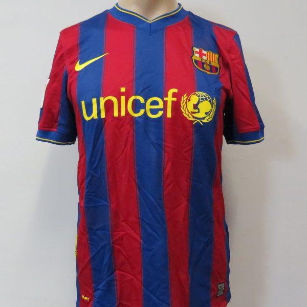 c50b0633486 Barcelona 2009-10 LFP home shirt Nike soccer jersey Messi 10 size S Barca
