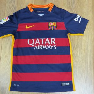 769ab4219be Barcelona 2015-16 home shirt Nike soccer jersey Boys S 128-137 8-10Y