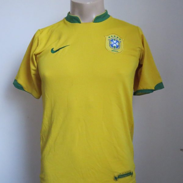 Brazil 2006-08 home shirt Nike jersey Boys XL 13-15Y 158-170 WC2006 (1)