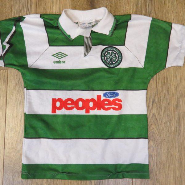 Celtic 1991-92 home shirt Umbro soccer jersey size Boys M 28-30 (Copy) (1)