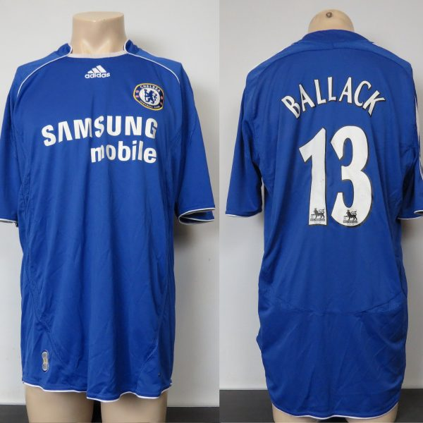 sports shoes bff48 166a4 Chelsea 2006-07 home shirt adidas soccer jersey Ballack 13 size L