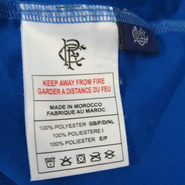 Glasgow Rangers 2003-05 home shirt Diadora PRSO 9 size YOUTH 152-158cm (4)