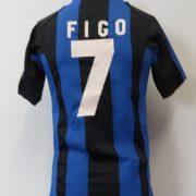 Inter Milan 2004-05 home shirt Nike jersey Figo 7 Boys L 12-13Y (1)