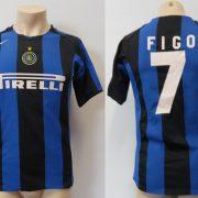 Inter Milan 2004-05 home shirt Nike jersey Figo 7 Boys L 12-13Y
