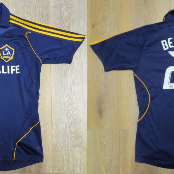 LA Galaxy 2007-08 away shirt MLS soccer jersey Beckham 23 164cm 14Y Boys L (15)