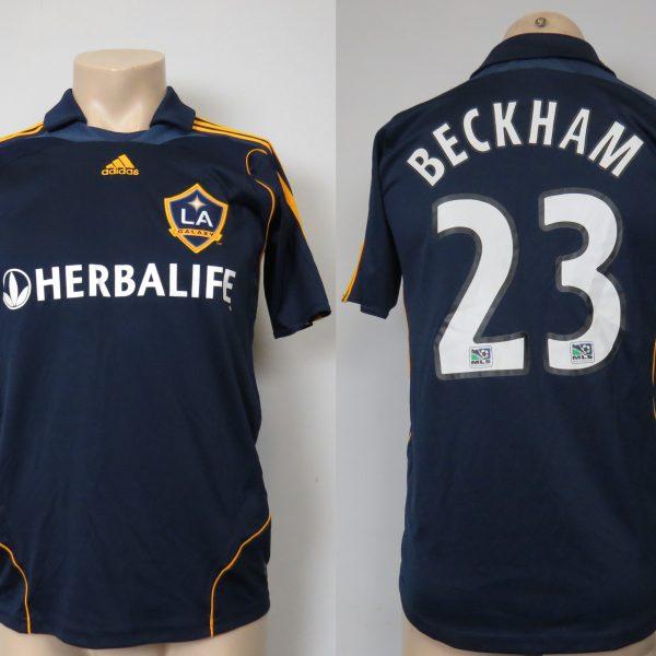 LA Galaxy 2007-08 away shirt MLS soccer jersey Beckham 23 164cm 14Y Boys L (4)