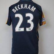 LA Galaxy 2007-08 away shirt MLS soccer jersey Beckham 23 164cm 14Y Boys L (6)