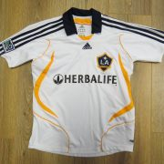 LA Galaxy 2007 home shirt adidas MLS soccer jersey 152cm 12Y Boys M (1)