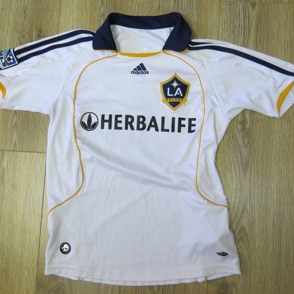 LA Galaxy 2008 home shirt adidas MLS soccer jersey Beckham 23 152cm 12Y Boys M (4)