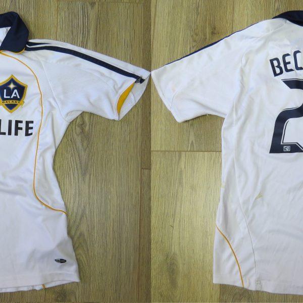 brand new 8c5b2 abfb9 LA Galaxy 2008 home shirt adidas MLS soccer jersey Beckham 23 152cm 12Y  Boys M