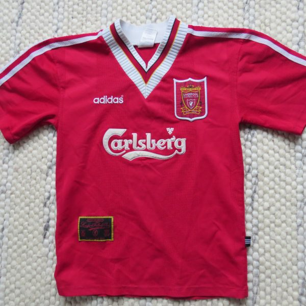 31c69561307 Liverpool 1995-96 home shirt adidas soccer jersey size XS – Football ...