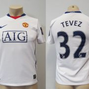 Manchester United 2008-10 away shirt Nike Tevez 32 size Boys L 152-158 1213Y (1)