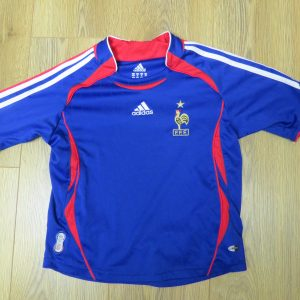 dab3cc092 Rare FRANCE 2006-07 home shirt adidas size Boys XS 8Y (World Cup 2006)