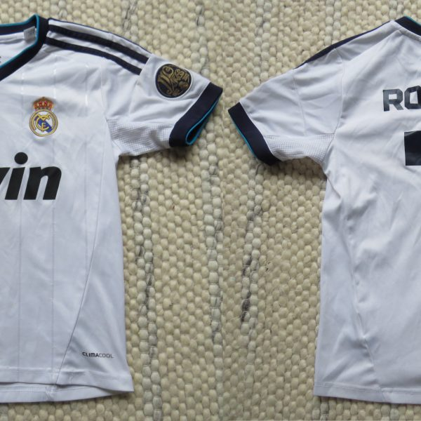sale retailer f8912 1f7a3 Real Madrid 2012-13 LFP home shirt adidas Ronaldo 7 jersey size Boys S 10Y