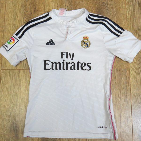 Real Madrid 2014-15 LFP home shirt adidas jersey size Boys M 152cm 11-12Y (1)