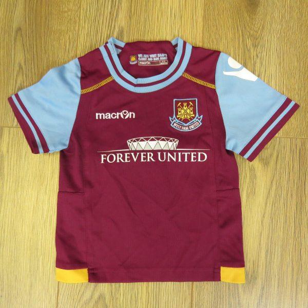 West Ham United 2011-12 home shirt Macron size baby 6-12mth 74cm (1)
