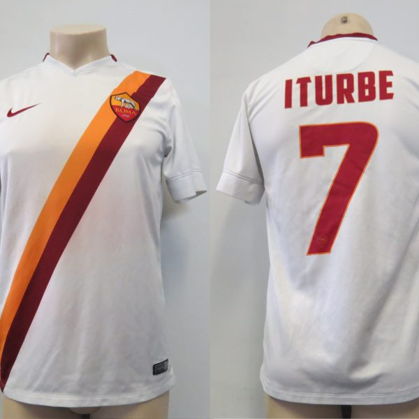 AS Roma 2014-15 away shirt Nike soccer jersey Iturbe 7 size S