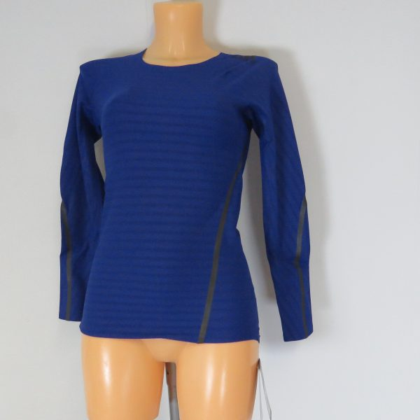 Adidas Alphaskin LS Shirt Compression 360 Tee CE0748 Blue Women's UK 8-10 S BNWT (5)