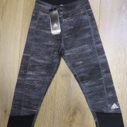 Adidas Black Heather Women Tight Techfit Capri Training Leggings AI2953 size 4-6 XS (1)