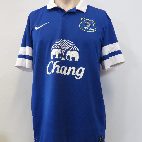 Everton 2013-14 home shirt Nike soccer jersey size L – Football ... e60932f97