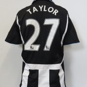Newcastle United 2007-09 home shirt adidas Clima365 soccer jersey Taylor 27 size S (2)