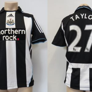 38645ed4ae7 Newcastle United 2007-09 home shirt adidas Clima365 jersey Taylor 27 size S
