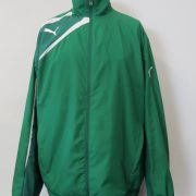 Puma tracksuit jacket green zip top Sports Training size L (1)