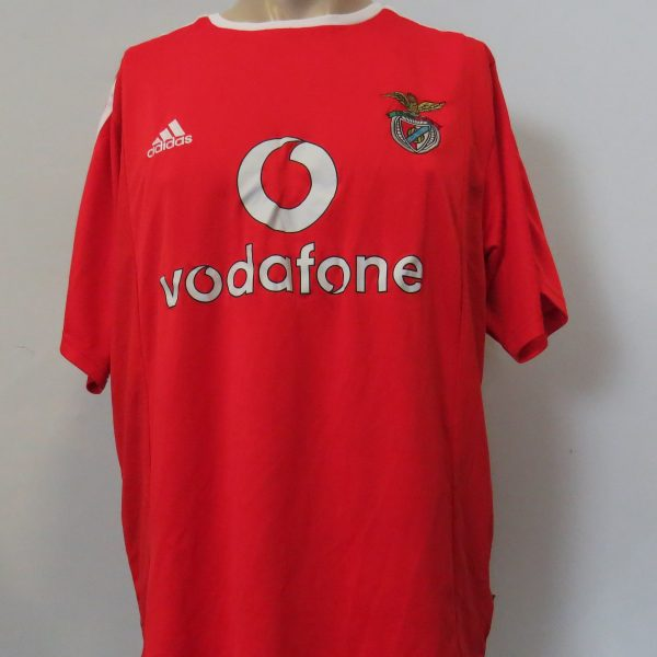 Vintage Benfica 2003-04 home shirt Adidas Climalite jersey Nuno Gomes 21 size L (1)