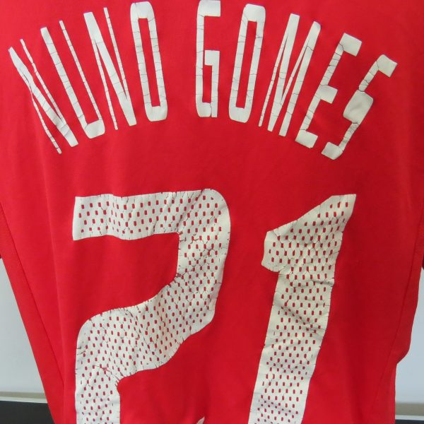 Vintage Benfica 2003-04 home shirt Adidas Climalite jersey Nuno Gomes 21 size L (5)