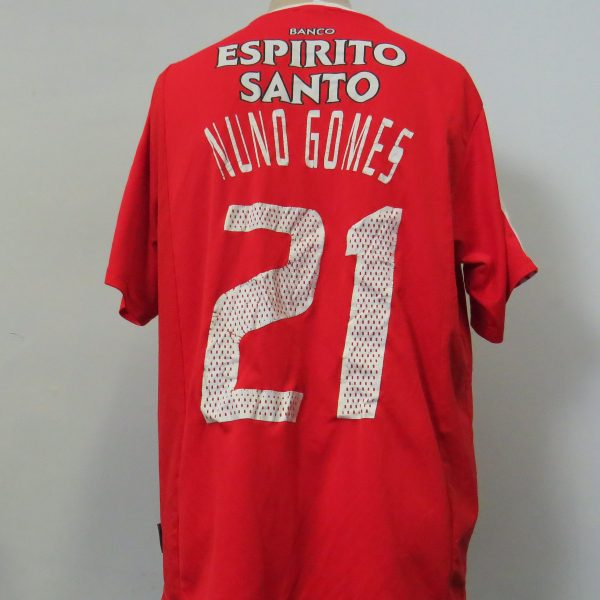 Vintage Benfica 2003-04 home shirt Adidas Climalite jersey Nuno Gomes 21 size L (7)