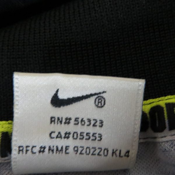 Vintage player issue Borussia Dortmund 1995-96 ls away training shirt Nike XL (3)