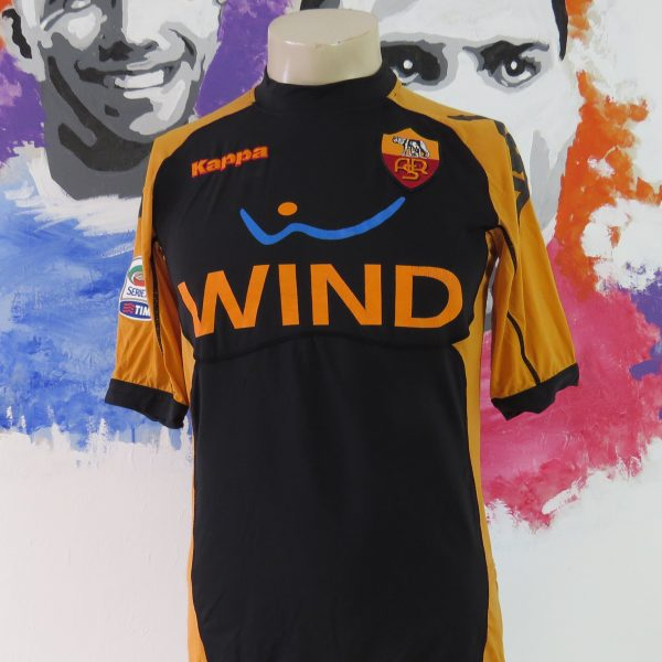 AS Roma 2010-11 third shirt Serie A Kappa Gara tight fitting size M ultra rare (1)
