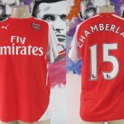 Arsenal 2014-15 home shirt Puma soccer jersey Chamberlain 15 size M