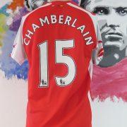 Arsenal 2014-15 home shirt Puma soccer jersey Chamberlain 15 size M (2)