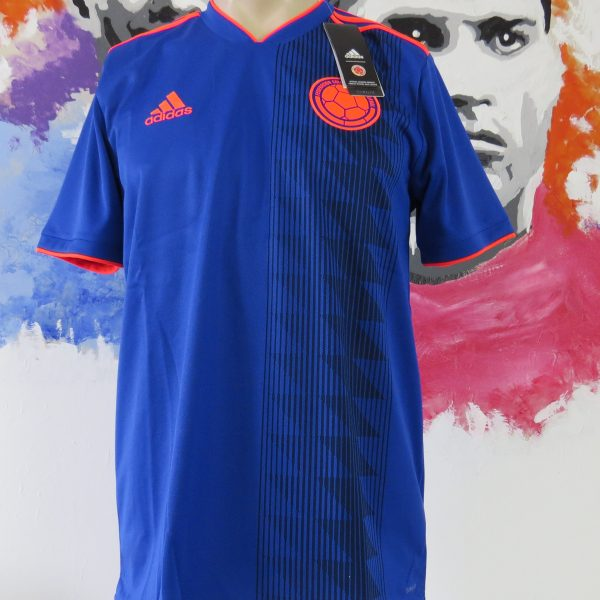 Colombia 2018-19 away shirt adidas climalite soccer jersey size L BNWT (World Cup 2018) (1)