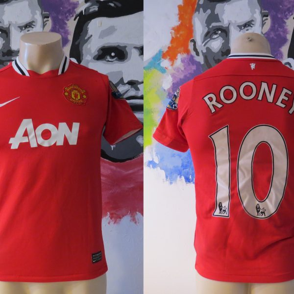 989df6a351d Manchester United 2011-12 EPL home shirt Nike jersey Rooney 10 Boys L 152-