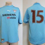 Player issue Lazio Roma 2002-03 home shirt Puma soccer jersey #15 size XL (1)