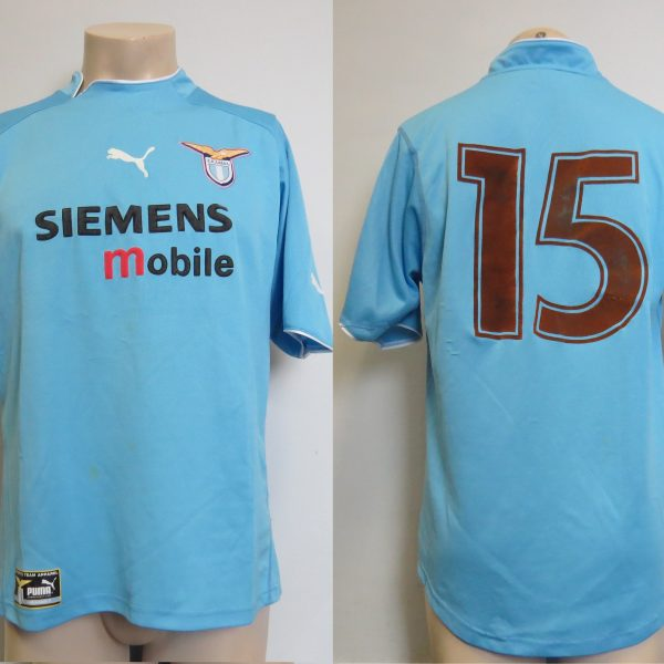 Player issue Lazio Roma 2002-03 home shirt Puma soccer jersey #15 size XL (1)