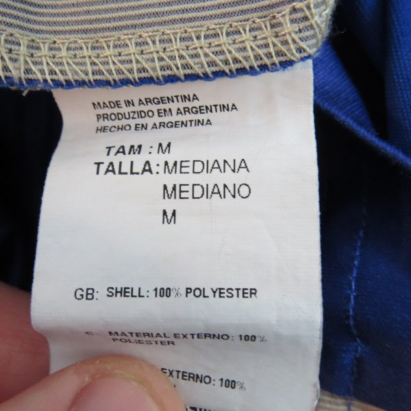 Argentina 2013-15 away shirt adidas soccer jersey size M World Cup 2014 (5)