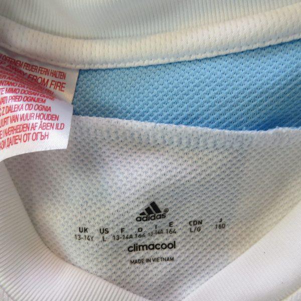 Argentina 2015-16 home shirt adidas jersey size Boys L 13-14Y 164cm (7)