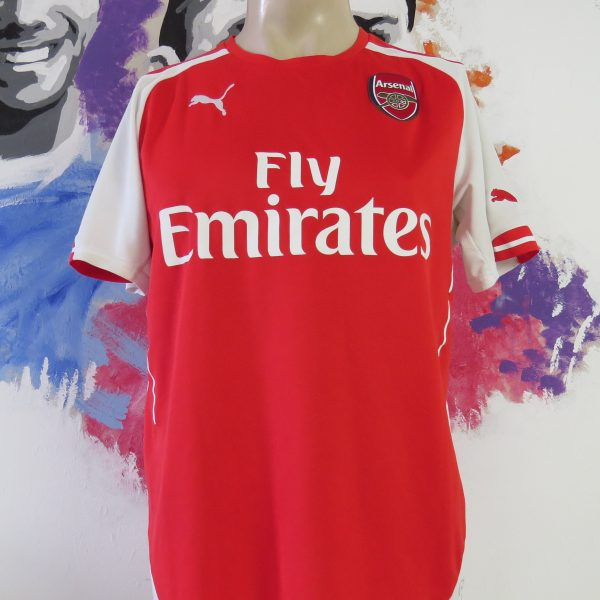 finest selection be488 eadc6 Arsenal 2014-15 home shirt Puma soccer jersey size M Gunners