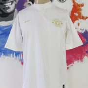 Manchester United white gold training shirt Nike jersey size M (1)
