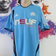 Olympique Marseille 2005-06 away shirt adidas soccer jersey size L (1)
