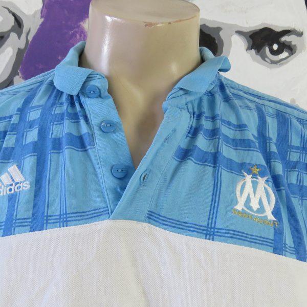 Olympique Marseille 2010-11 polo shirt adidas presentation jersey size L (2)