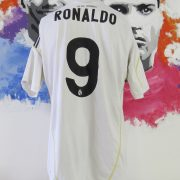 Real Madrid 2009-10 home shirt adidas LFP soccer jersey Ronaldo 9 size L (5)
