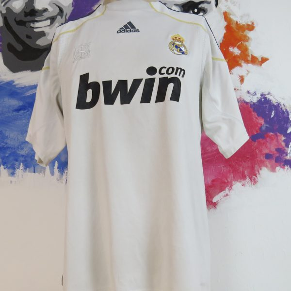 Real Madrid 2009-10 home shirt adidas LFP soccer jersey Ronaldo 9 size L (7)