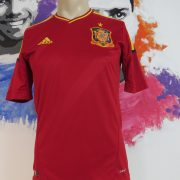 Spain 2011-12 home shirt adidas soccer jersey camiseta size S EURO2012 (1)
