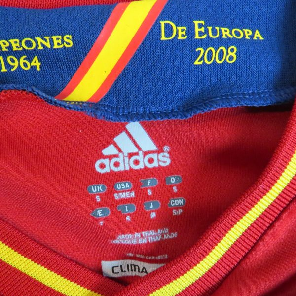 Spain 2011-12 home shirt adidas soccer jersey camiseta size S EURO2012 (3)