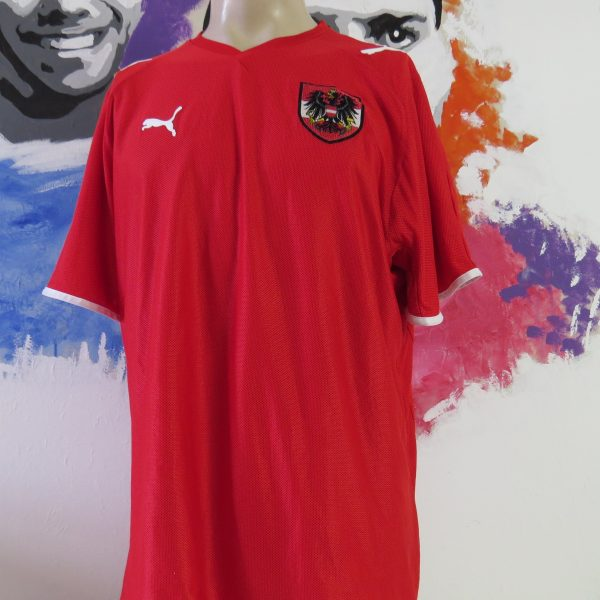 Vintage Austria 2008-09 home shirt Puma soccer jersey size XL EURO2008 (1)
