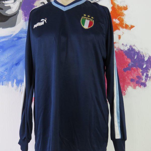 Vintage Italy 2003-04 ls training shirt Puma Italia soccer jersey size L (1)